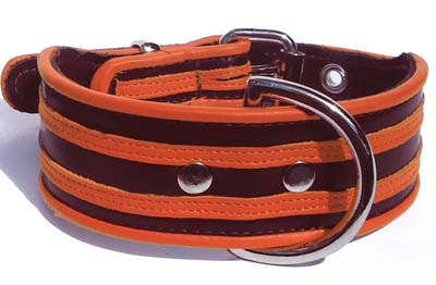 """The Manhattan"" Made to order Italian Calf Leather Dog Collars - Holly & Lil Collars Handmade in Britain, Leather dog collars, leads & Dog harnesses."